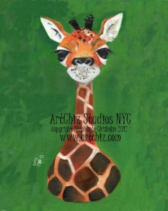 Baby Giraffe, cute