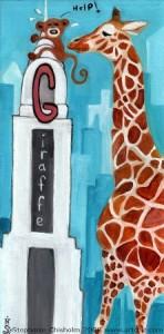 Giraffe in New York City, Monkey, Chrysler Building