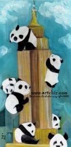 Empire Panda, Pandas climbing the Empire State Buliding